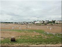NT4999 : Cricket on the beach at Elie by Geoff Gartside