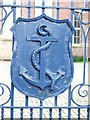 NS4863 : Anchor Mill gate detail by Thomas Nugent