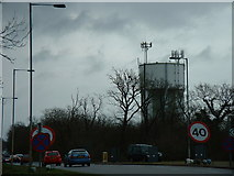 TL3160 : Water Tower, St. Neots Road. by Mark Hurn