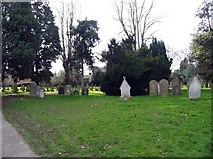 TL1314 : Churchyard at St Nicholas, Harpenden by John Salmon