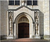 TL1314 : Our Lady of Lourdes, Harpenden - Porch by John Salmon