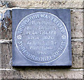 SE2231 : Plaque on wall of No 34 Fulneck by Betty Longbottom