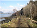 NN0359 : The route of the old Oban to Ballachulish railway line by John McLuckie