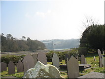 SH5571 : Pont y Borth from St Tysilio Church by Eric Jones