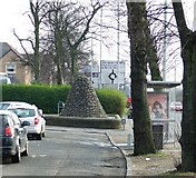 NS4865 : Cairn on Renfrew Road by Thomas Nugent