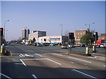 SJ7994 : A56 Road Junction with Stretford Mall by R Greenhalgh
