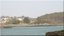 SH5571 : View across the Straits to Ynys Tysilio/Church Island by Eric Jones