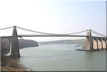 SH5571 : Pont y Borth by Eric Jones