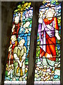 SE7038 : Stained Glass Window at Aughton Church by stuart hartley