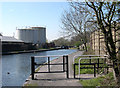 SO9087 : Towpath Barrier and Stourbridge Canal, West Midlands by Roger  Kidd
