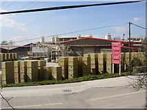 SE1323 : Precast concrete factory, Brookfoot Lane, Southowram by Humphrey Bolton