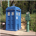 SK3454 : Police Public Call Box, Crich Tramway village by Peter Tarleton