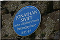 J3193 : Jonathan Swift plaque, Ballynure by Albert Bridge