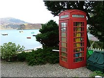 NG4843 : Telephone Box overlooking Portree Bay by Dave Fergusson
