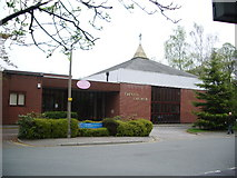 SJ8588 : Trinity Church, Methodist/United Reformed, Cheadle by Alexander P Kapp