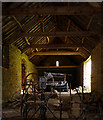 ST7475 : Interior of a barn at Old Lodge by Linda Bailey