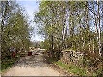 SE1323 : Entrance to quarry off Brookfoot Lane, Southowram by Humphrey Bolton
