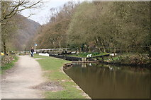 SD9625 : Holmcoat Lock No 14, Rochdale Canal by Dr Neil Clifton