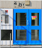 SU4112 : Entrance door to Wyndham Court, Southampton by Peter Facey