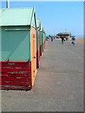 TQ2804 : Beach Huts, Western Esplanade by Simon Carey