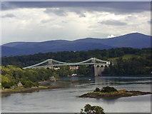 SH5571 : Menai Bridge from Anglesey by Chris Gunns