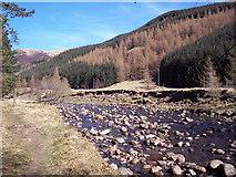 NO2876 : River South Esk by Maigheach-gheal