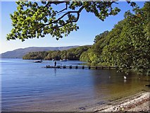 NS4092 : Slipway on Loch Lomond, north of Balmaha by Raymond Chisholm