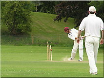 TG1807 : Cricket at Colney Lane Playing Fields UEA by Helen Hanley