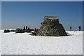 NN1671 : Ben Nevis summit by John Allan