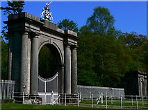 NS3586 : Gates to Rossdhu House by George Rankin