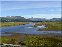 SH5838 : Eryri from the Porthmadog Cob by Chris Gunns