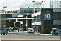 ST0667 : Stand 10 at Cardiff Airport by Christopher R Ware