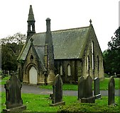 SE1039 : Disused Chapel at Bingley Cemetery by Betty Longbottom