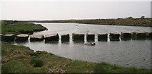 SH4464 : Stepping stones, Afon Braint by Bryn Roberts