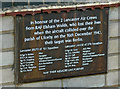 TA1014 : Plaque at Ulceby War Memorial by David Wright