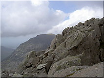 SH6659 : Rocks near the summit of Tryfan by Ian Greig