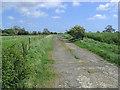 NZ1797 : Farm road by Walter Baxter