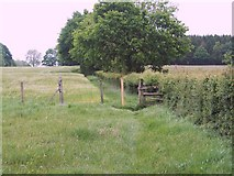 SU1012 : Field edge footpath and stile near Daggons by Maigheach-gheal