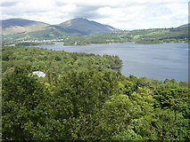 NY2622 : Derwent Water with Friar's Crag on the far bank by Roy Turner