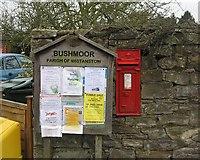 SO4387 : Old post box, Bushmoor by Richard Webb