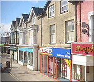 SH5638 : Shops in the High Street, Porthmadog by Eric Jones