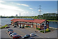 SJ8092 : Trafford Watersports Centre and Deckers Restaurant, Sale Water Park by Phil Champion