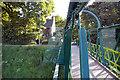 SJ8192 : Jackson's Boat Footbridge, River Mersey by Phil Champion