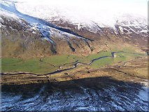 NO1485 : New Bigging in Glen Clunie from the air by Gordon Gibb