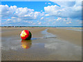 TR1028 : Marker Buoy, Dymchurch Beach by Simon Carey