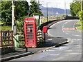 SH7718 : Phonebox and pillar box,  Brithdir by liz dawson