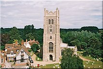 TM1473 : Eye: parish church of Ss. Peter & Paul from the castle by Chris Downer