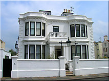 TQ2804 : Leicester Lodge, Hove Place by Simon Carey