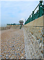 TQ2804 : Hove Sea Wall and Shelter by Simon Carey