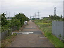 TQ4382 : The Greenway, Beckton by Danny P Robinson